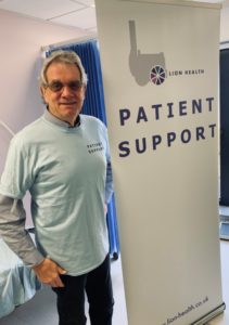 Photo of Chris Hare, one of the founders of the Lion Health Patient Support Group